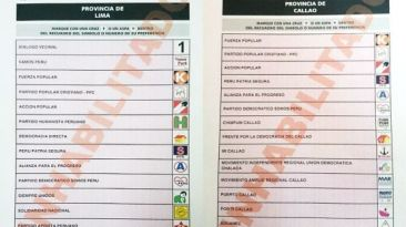Elecciones 2014: mira el orden de candidatos de Lima y Callao