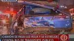 Cinco heridos dejó choque entre un camión y un ómnibus - Noticias de choque de buses