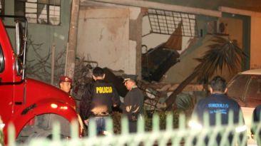 Explosión dentro de complejo policial remece casas de Surquillo