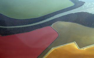 Colores desde el cielo: Conoce la poza de sal de San Francisco