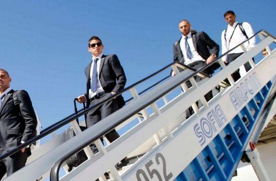 Real Madrid llegó a Bulgaria para duelo de mañana por Champions