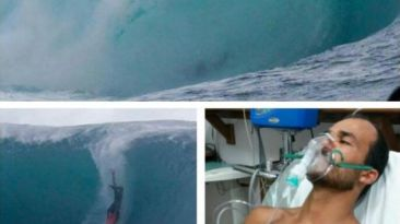 Brasileño salvó de morir luego de surfear una ola de 12 metros