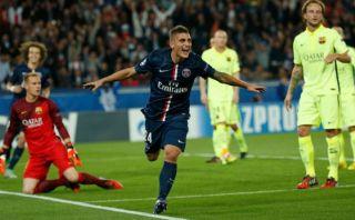 PSG derrotó 3-2 al Barcelona en París, sin Zlatan Ibrahimovic