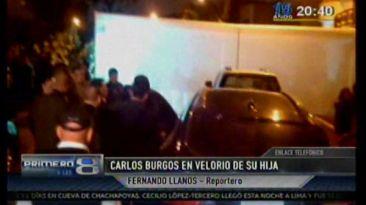 Alcalde Carlos Burgos llegó al velorio de su hija en Los Olivos