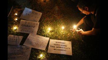 Hong Kong continúa protestando durante el Día Nacional de China