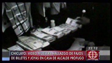 Alcalde de Chiclayo guardaba fajos de dinero en su clóset