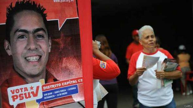 Cartel de campaña de Robert Serra en el barrio 23 de Enero. (Foto: BBC)