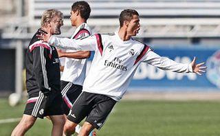 Cristiano Ronaldo volvió a los entrenamientos y superó lesión