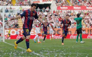 Barcelona derrotó 2-0 al Rayo con goles de Messi y Neymar