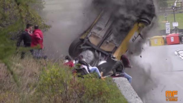 Immagini Incidente Rally Valle d'Aosta