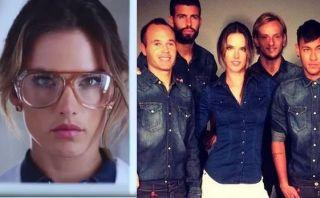 El spot caliente de una top model con los cracks del Barcelona