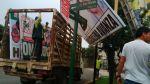 Municipio de Magdalena empezó retiro de paneles electorales - Noticias de magdalena del mar