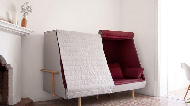 Sin espacio decora con este sof que se convierte en una for Sofa que se convierte en litera