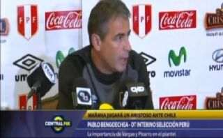 "Pablo Bengoechea, ""técnico interino de Perú"", según FOX Sports"