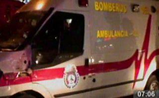 Choque entre ambulancia y bus en SJL dejó cinco heridos