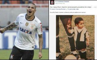 Paolo Guerrero y la emotiva foto que le dedicó el Corinthians