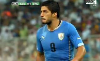 La increíble ocasión de gol que perdió Luis Suárez con Uruguay