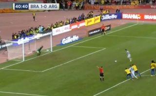 Brasil vs. Argentina: así erró un penal Lionel Messi