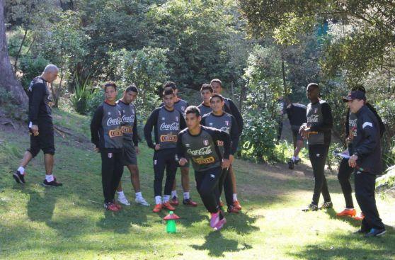 La selección peruana realizó su último entrenamiento en Chile