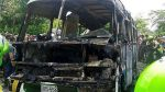 Extorsionadores quemaron bus en demanda de cupos - Noticias de florencia de mora