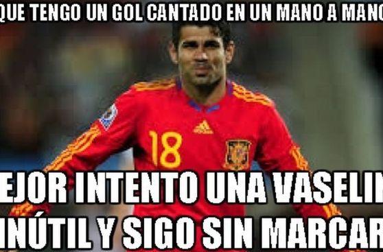 Diego Costa y los memes que generó por su primer gol con España