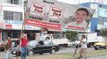 Surquillo: retiran propaganda electoral de calles y casas - Noticias de afiches