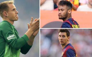 """Ter Stegen sobre Neymar y Messi: """"Comen, beben y van al baño"""""""
