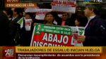 Trabajadores de Essalud retoman huelga en hospital Almenara - Noticias de nueva escala remunerativa