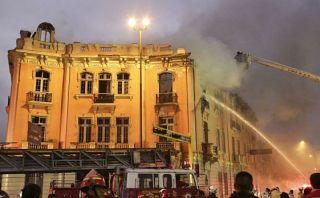 Incendio en Plaza Dos de Mayo: casona podría ser reparada