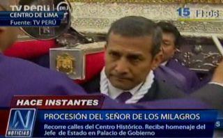 Ollanta Humala rindió honores a imagen de Señor de los Milagros