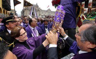 Señor de los Milagros fue homenajeado por Municipalidad de Lima