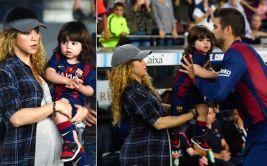 Shakira lució su embarazo en reciente partido de Gerard Piqué