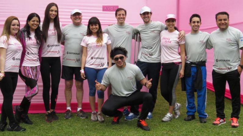 Artistas hicieron un alto a sus actividades para apoyar la campaña que promueve el diagnóstico precoz de un  cáncer de mama. (Foto: Difusión)