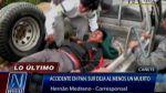 Choque en Panamericana Sur deja un muerto y 3 heridos en Cañete - Noticias de accidentes de tránsito