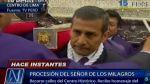 Ollanta Humala rindió honores a imagen de Señor de los Milagros - Noticias de señor de los milagros