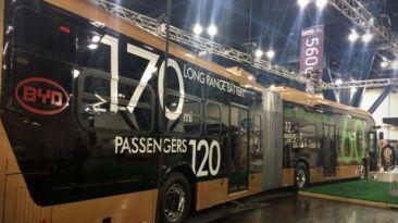 BYD presentó el bus eléctrico más grande del mundo