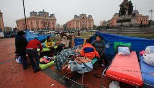 Incendio en Plaza Dos de Mayo: afectados van a albergues