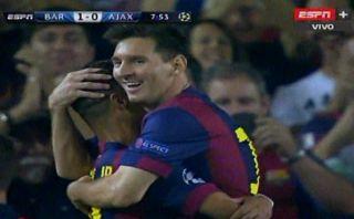 El golazo de Neymar al Ajax al estilo del Barcelona