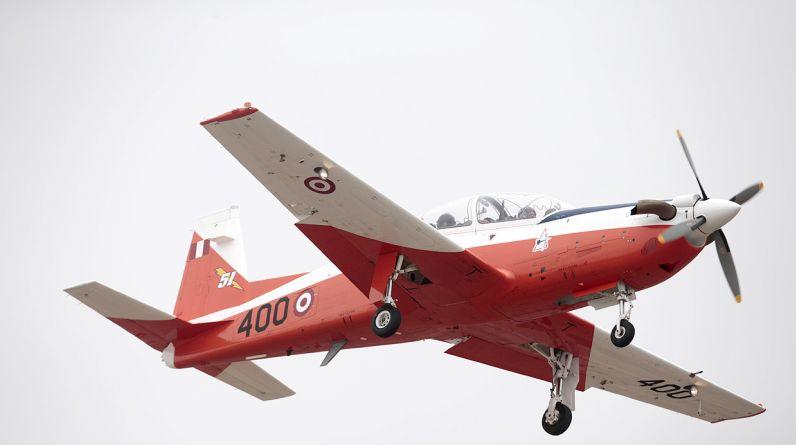 Hoy se presentó las dos primeras aeronaves de instrucción básica KT - 1P. Evento se realizó en la base aérea Las Palmas, en Surco. (El Comercio)