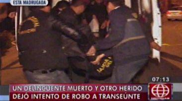 Delincuente muere a balazos en frustrado asalto en SJL