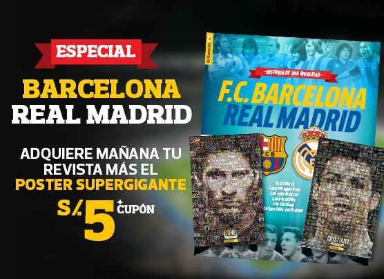 Mañana el póster de Messi y CR7 con revista del clásico español