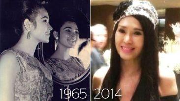 Esta reina de belleza no ha envejecido en 50 años
