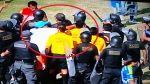 Repudiable: miembro de San Simón agredió al árbitro Romel López - Noticias de daniel ahmed