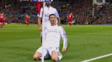 Golazo de Cristiano al Liverpool tras brillante pase de James
