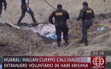 Huaral: ciudadano canadiense muere calcinado en extraño ritual