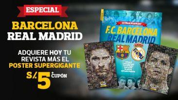 Hoy el póster de Messi y CR7 con revista del clásico español
