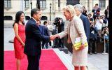 Ollanta Humala y Nadine Heredia recibieron a la princesa Astrid