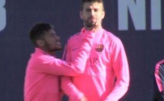 Neymar y Piqué 'discutieron' en práctica del Barcelona