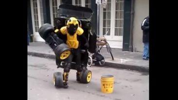YouTube: este 'Transformer' es humano y vive en New Orleans