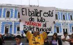 Una singular protesta en la Plaza de Armas de Trujillo